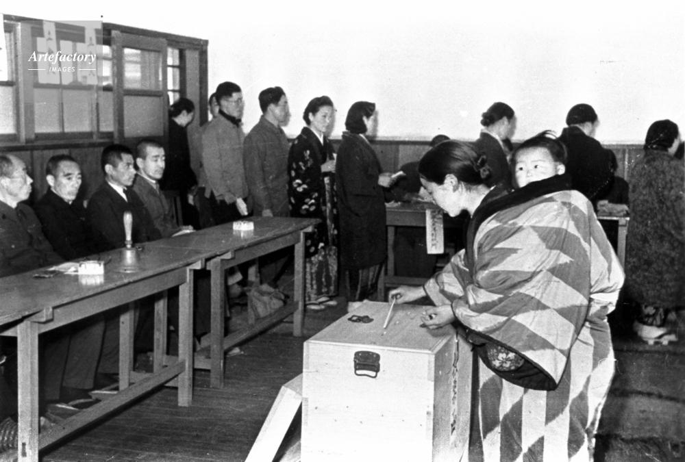 1946年 総選挙で女性に初の選挙権